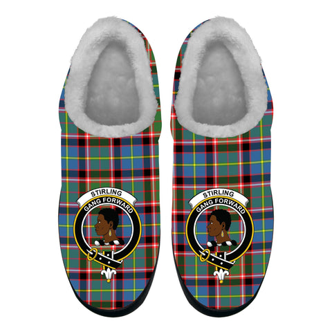Image of Stirling & Bannockburn District Crest Tartan Fleece Slipper (Women's/Men's) A7