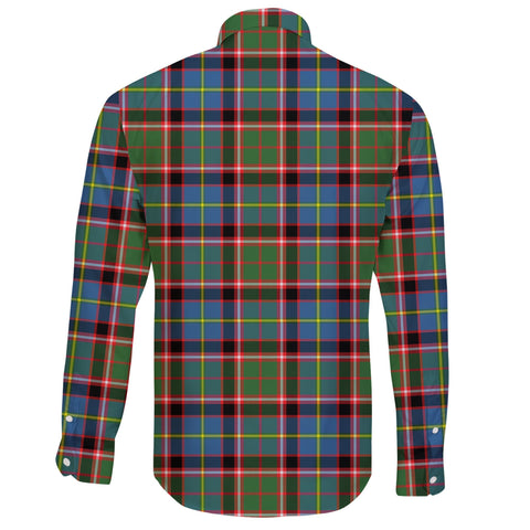 Image of Stirling & Bannockburn District Tartan Clan Long Sleeve Button Shirt A91