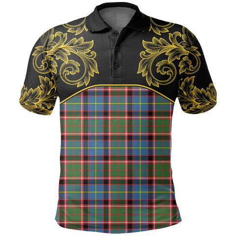 Stirling & Bannockburn District Tartan Clan Crest Polo Shirt - Empire I - HJT4 - Scottish Clans Store - Tartan Clans Clothing - Scottish Tartan Shopping - Clans Crest - Shopping In scottishclans - Polo Shirt For You