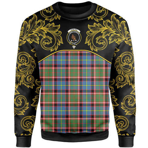 Image of Stirling & Bannockburn District Tartan Clan Crest Sweatshirt - Empire I - HJT4 - Scottish Clans Store - Tartan Clans Clothing - Scottish Tartan Shopping - Clans Crest - Shopping In scottishclans - Sweatshirt For You