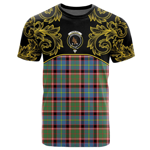 Image of Stirling & Bannockburn District Tartan Clan Crest T-Shirt - Empire I - HJT4 - Scottish Clans Store - Tartan Clans Clothing - Scottish Tartan Shopping - Clans Crest - Shopping In scottishclans - T-Shirt - Tee For You