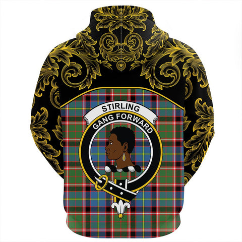 Stirling & Bannockburn District Tartan Clan Crest Zip Hoodie - Empire I - HJT4