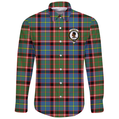 Image of Stirling & Bannockburn District Tartan Clan Long Sleeve Button Shirt | Scottish Clan