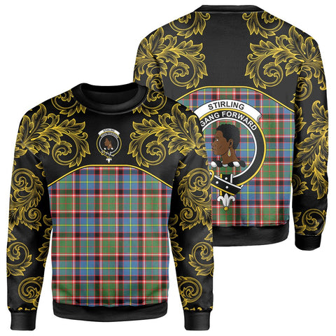 Image of Stirling & Bannockburn District Tartan Clan Crest Sweatshirt - Empire I - HJT4