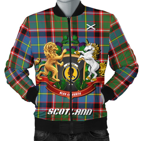 Image of Stirling & Bannockburn District | Tartan Bomber Jacket | Scottish Jacket | Scotland Clothing