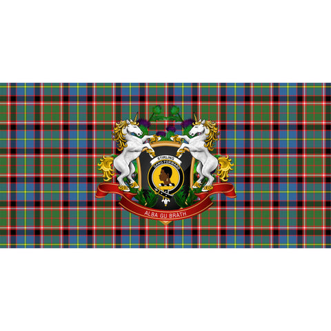 Stirling & Bannockburn District Crest Tartan Tablecloth Unicorn Thistle A30