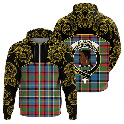 Image of Stirling & Bannockburn District Tartan Clan Crest Zip Hoodie - Empire I - HJT4 - Scottish Clans Store - Tartan Clans Clothing - Scottish Tartan Shopping - Clans Crest - Shopping In scottishclans - Hoodie - Pullover For You