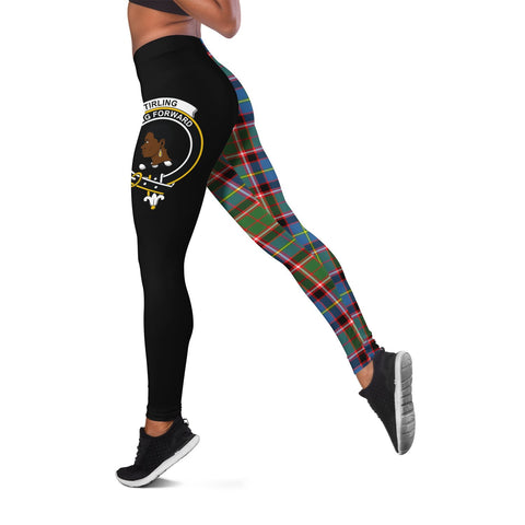 Stirling & Bannockburn District Crest Tartan Leggings | Over 500 Tartans | Special Custom Design