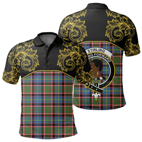 Image of Stirling & Bannockburn District Tartan Clan Crest Polo Shirt - Empire I - HJT4