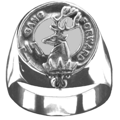 Stirling  Tartan Inscribed Rings - Tartan Ring Sterling Silver