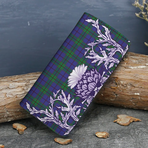 Image of Strachan Tartan Wallet Women's Leather Thistle A91