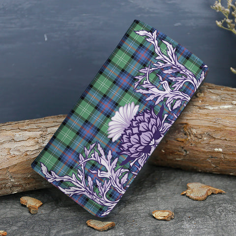 Sutherland Old Ancient Tartan Wallet Women's Leather Thistle A91