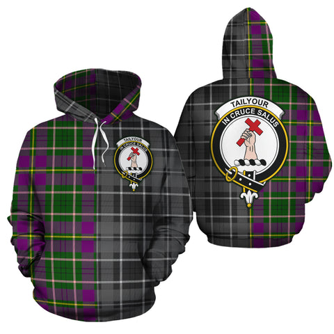 Taylor Clan Half Of Me New Version Crest Tartan Hoodie