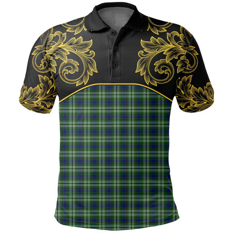 Tweedside District Tartan Clan Crest Polo Shirt - Empire I - HJT4 - Scottish Clans Store - Tartan Clans Clothing - Scottish Tartan Shopping - Clans Crest - Shopping In scottishclans - Polo Shirt For You
