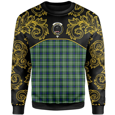 Tweedside District Tartan Clan Crest Sweatshirt - Empire I - HJT4 - Scottish Clans Store - Tartan Clans Clothing - Scottish Tartan Shopping - Clans Crest - Shopping In scottishclans - Sweatshirt For You