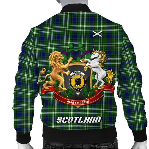 Tweedside District | Tartan Bomber Jacket | Scottish Jacket | Scotland Clothing