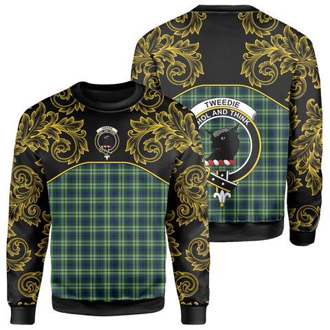 Tweedside District Tartan Clan Crest Sweatshirt - Empire I - HJT4