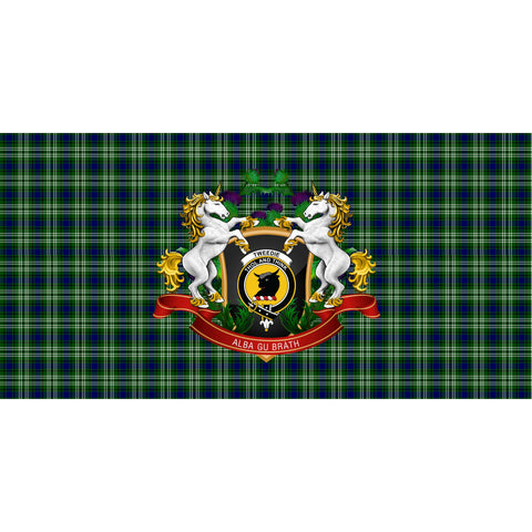 Tweedside District Crest Tartan Tablecloth Unicorn Thistle A30