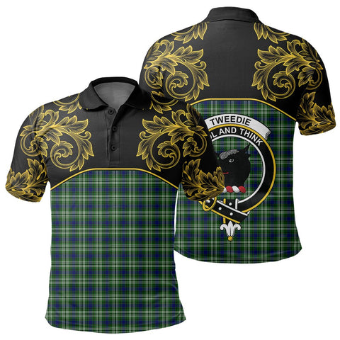 Tweedside District Tartan Clan Crest Polo Shirt - Empire I - HJT4