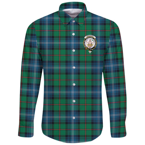 Urquhart Ancient Tartan Clan Long Sleeve Button Shirt | Scottish Clan