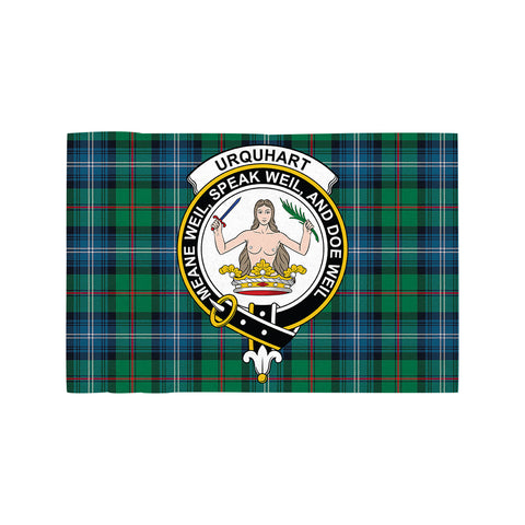 Urquhart Ancient Clan Crest Tartan Motorcycle Flag