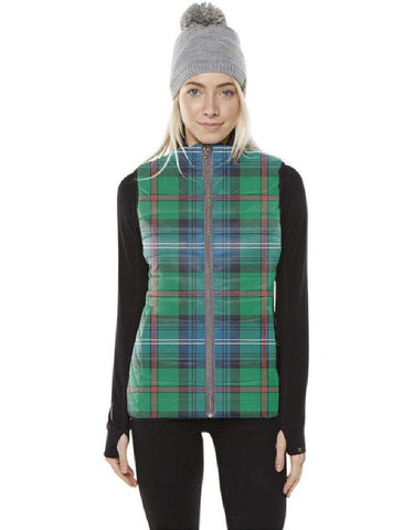 Urquhart Ancient Tartan Puffer Vest for Men and Women K7