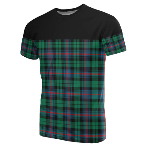 Tartan Horizontal T-Shirt - Urquhart Broad Red Ancient
