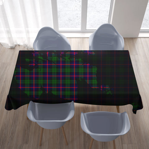 Urquhart Modern Tartan Map Tablecloth TH8
