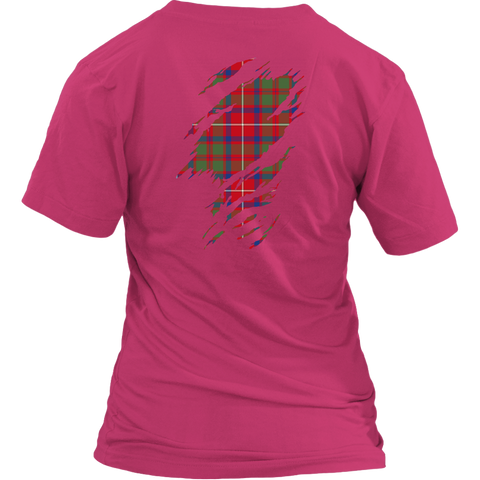 Image of Shaw Red Modern Lives in me Tartan T Shirt K7