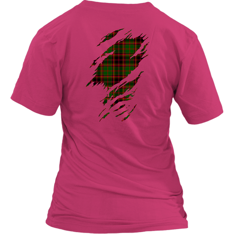 Image of Buchan Modern Lives in me Tartan T Shirt K7