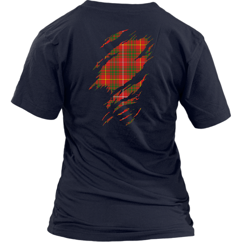 Image of Bruce Modern Lives in me Tartan T Shirt K7