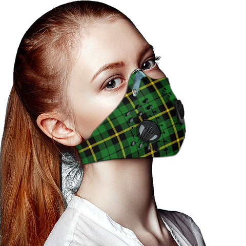 Wallace Hunting - Green Tartan Dust-proof Sports Masks ( Model 1) - TH88 (USA Shipping Line)