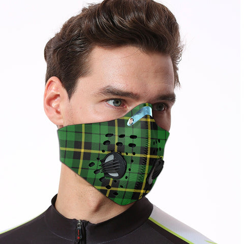 Image of Wallace Hunting - Green Tartan Dust-proof Sports Masks ( Model 1) - TH88 (USA Shipping Line)