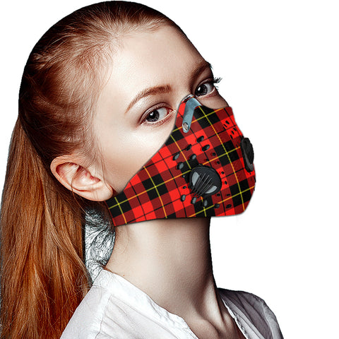 Wallace Hunting - Red Tartan Dust-proof Sports Masks ( Model 1) - TH88 (USA Shipping Line)