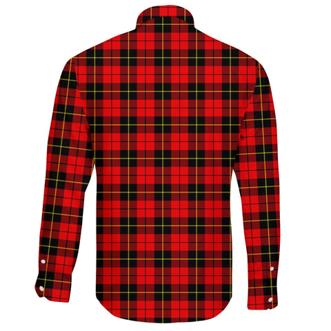 Wallace Hunting - Red Tartan Clan Long Sleeve Button Shirt A91