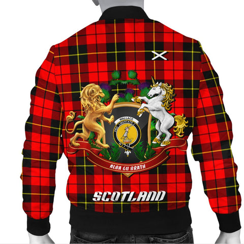 Wallace Hunting - Red | Tartan Bomber Jacket | Scottish Jacket | Scotland Clothing