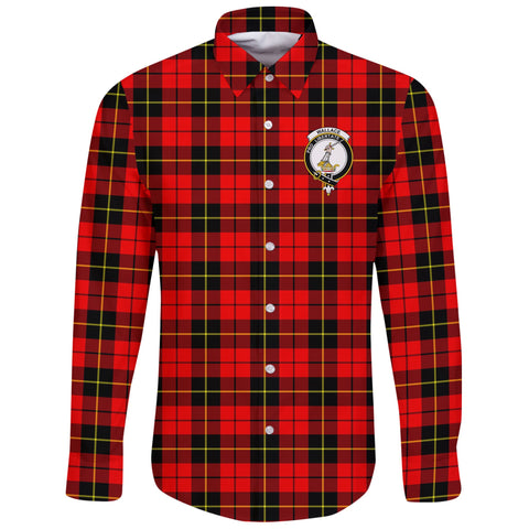 Wallace Hunting - Red Tartan Clan Long Sleeve Button Shirt | Scottish Clan