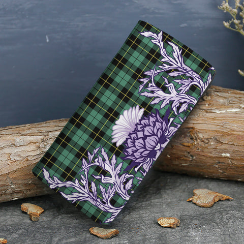 Wallace Hunting Ancient Tartan Wallet Women's Leather Thistle A91