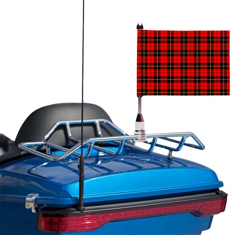 Wallace Hunting Red Clan Tartan Motorcycle Flag
