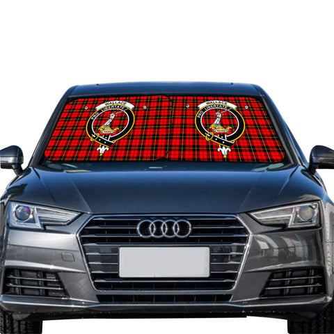Wallace Hunting Red Clan Crest Tartan Scotland Car Sun Shade 2pcs