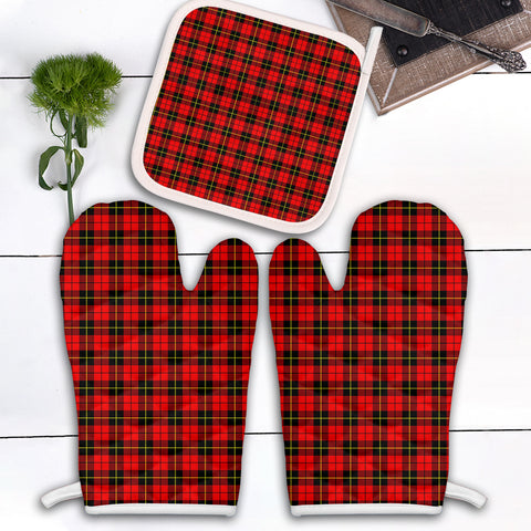 Wallace Hunting Red Clan Tartan Scotland Oven Mitt And Pot-Holder (Set Of Two)