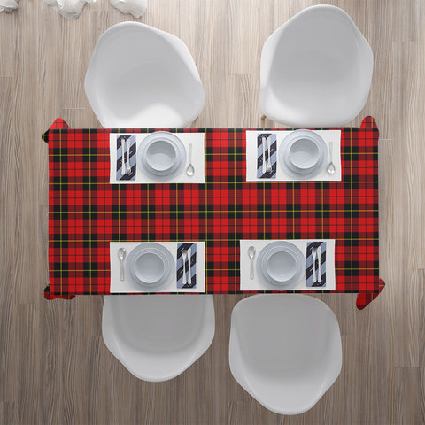 Wallace Hunting - Red Tartan Tablecloth | Home Decor