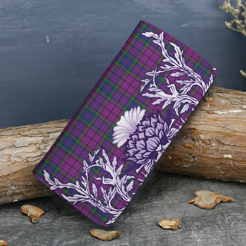 Wardlaw Modern Tartan Wallet Women's Leather Thistle A91