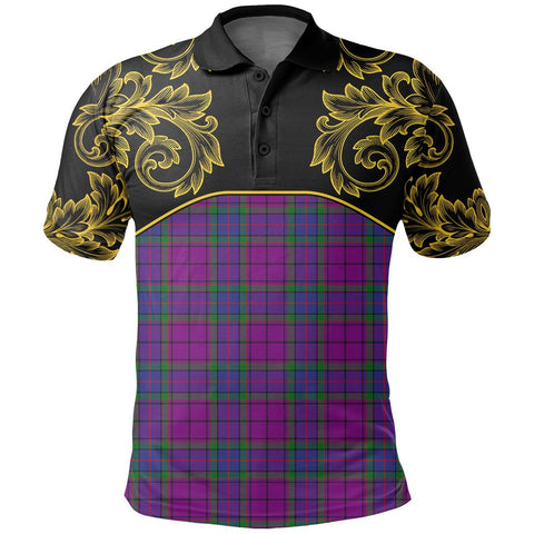 Wardlaw Modern Tartan Clan Crest Polo Shirt - Empire I - HJT4 - Scottish Clans Store - Tartan Clans Clothing - Scottish Tartan Shopping - Clans Crest - Shopping In scottishclans - Polo Shirt For You