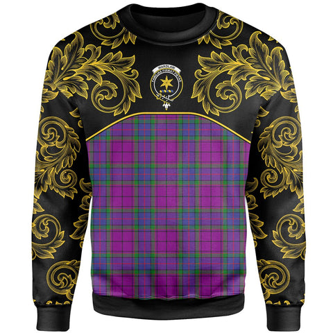 Wardlaw Modern Tartan Clan Crest Sweatshirt - Empire I - HJT4 - Scottish Clans Store - Tartan Clans Clothing - Scottish Tartan Shopping - Clans Crest - Shopping In scottishclans - Sweatshirt For You