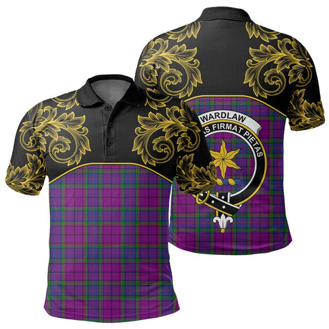 Wardlaw Modern Tartan Clan Crest Polo Shirt - Empire I - HJT4