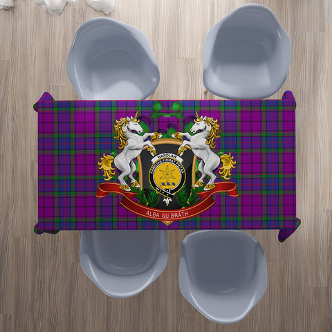 Wardlaw Modern Crest Tartan Tablecloth Unicorn Thistle | Home Decor