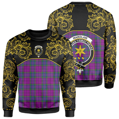 Image of Wardlaw Modern Tartan Clan Crest Sweatshirt - Empire I - HJT4