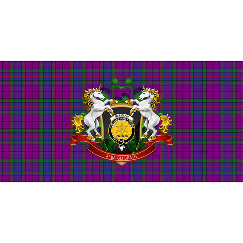 Wardlaw Modern Crest Tartan Tablecloth Unicorn Thistle A30