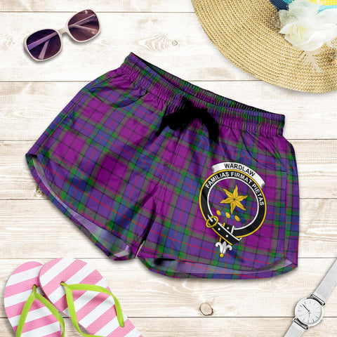 Wardlaw Modern crest Tartan Shorts For Women